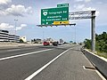 2019-05-29 15 24 59 View north along Interstate 95 and east along the outer loop of the Capital Beltway (Interstate 495) at Exit 176B (Virginia State Route 241 North-Telegraph Road, Alexandria, To Eisenhower Avenue) in Rose Hill, Virginia.jpg