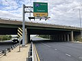 2019-08-24 18 00 38 View east along U.S. Route 40 (Baltimore National Pike) at the exit for Interstate 695 NORTH (Towson) on the edge of Woodlawn and Catonsville in Baltimore County, Maryland.jpg