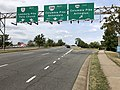 2019-09-17 12 11 56 View west along Virginia State Route 7 (Leesburg Pike) at the exit for Virginia State Route 244 EAST (Columbia Pike, Arlington) in Bailey's Crossroads, Fairfax County, Virginia.jpg