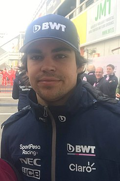 2019 Formula One tests Barcelona, Stroll (33376133178).jpg