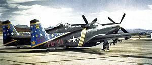 496th Tactical Fighter Squadron - Image: 2d FAWS North American F 82F Twin Mustang 46 414