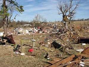 2010 New Year's Eve tornado outbreak - Damage in Cincinnati, Arkansas