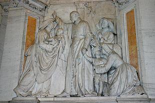 Vincenzo de' Paoli presenta Luisa di Marillac e le prime Figlie della Carità alla regina Anna d'Austria.