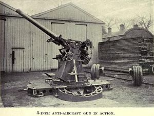 QF 3-inch 20 cwt - Demonstration of deployment for action on cruciform travelling platform with wheels removed