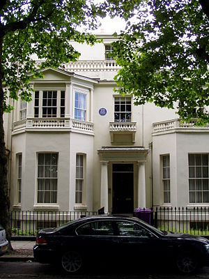 Peter Ellis (architect) - Ellis' residence, 40 Falkner Square, Liverpool