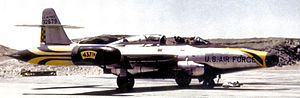 Battle of Palmdale - Northrop F-89D Scorpion of the 437th Fighter Intercept Squadron stationed at Oxnard AFB California 1956.