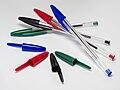 4 Bic Cristal pens and caps.jpg