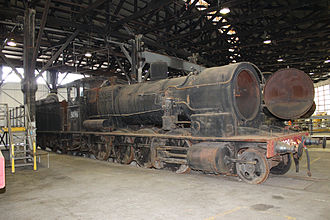 New South Wales D50 class locomotive - Image: 5096 at Broadmeadow