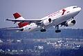 53ch - Austrian Airlines Airbus A310-324; OE-LAB@ZRH;14.03.1999 (5256673385).jpg