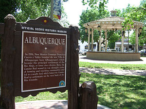 The Old Town District in Albuquerque, New Mexico.