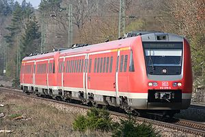 RegioSwinger - A RegioSwinger in use as Allgäu-Franken-Express in Treuchtlingen