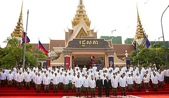 National Assembly of Cambodia - Members of the sixth National Assembly of Cambodia with King Norodom Sihamoni, 5 September 2018.
