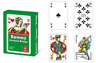 German Rummy - A pack of 110 German Rummy cards