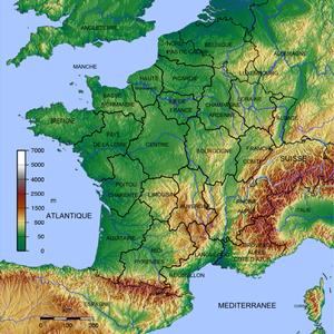 image of 700x700 CARTE FRANCE GEO Regions R1