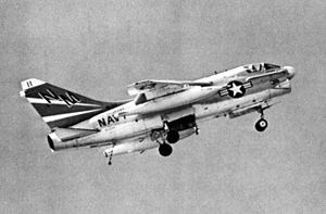 A-7A Corsair II VA-153 in flight 1970.jpg