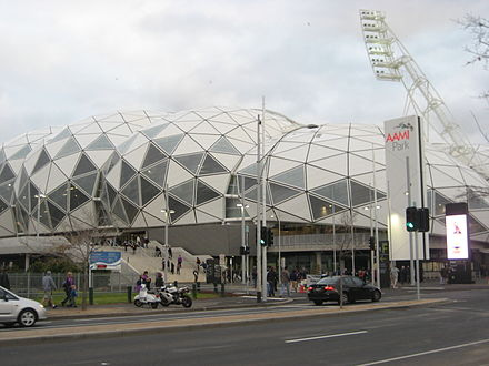 Melbourne Rectangular Stadium.