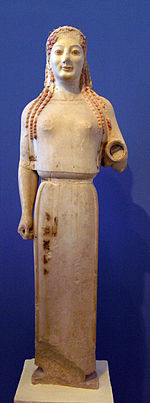kore in ionian dress