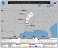 AL022019 Tropical Depression Barry 5day cone no line and wind.png