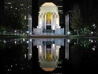 1934 in Australia - ANZAC War Memorial Sydney, built in 1934