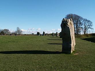 Ritual landscape - Avebury Stone Circle in Great Britain