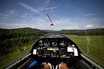 A Civil Air Patrol Maule MT-7 tows an L-23 Super Blanik glider above Springfield, Vermont.jpg