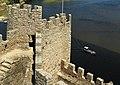 A boat passing by the Castle of Almourol - Um barco a passar pelo Castelo de Almourol - panoramio.jpg