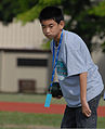 A boy plays bocce ball during a Special Olympics competition at Joint Base Pearl Harbor-Hickam, Hawaii, Dec. 4, 2010 101204-F-TP543-201.jpg