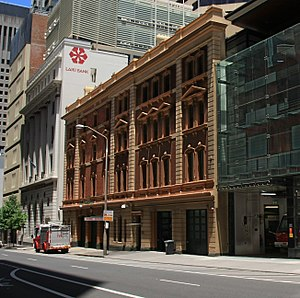 Castlereagh Street - Image: A cropped fire station in Sydney city