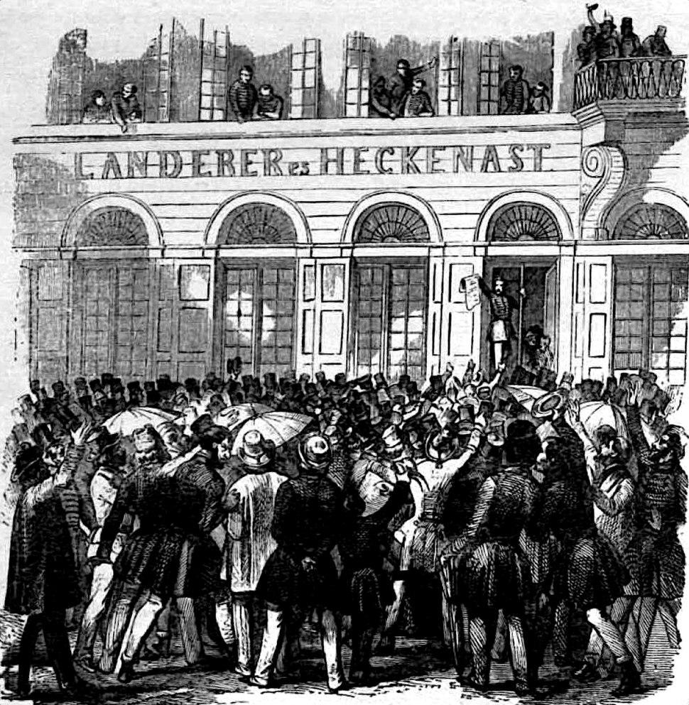 A szabadsajtó első terméke Pesten 1848. március 15