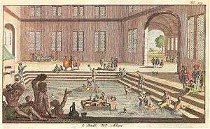 Spa - Hot springs at Aachen, Germany, 1682
