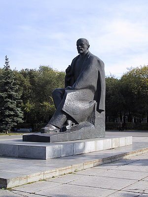 Abakan - Statue of Vladimir Lenin in Abakan