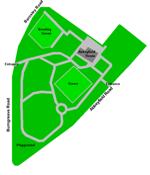 Abbeyfield Park - Plan of Abbeyfield Park.