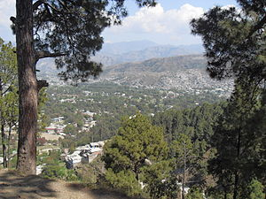 English: A view of Abbottabad, Pakistan, from ...