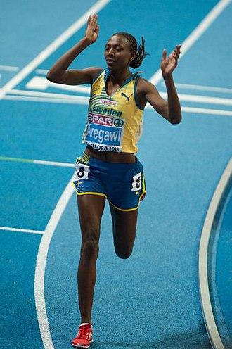 Abeba Aregawi - Abeba Aregawi competing for Sweden in 2013