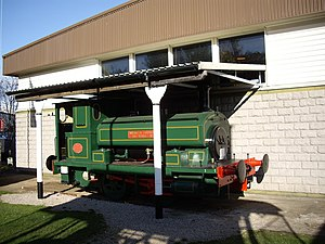 Grampian Transport Museum - Andrew Barclay Aberdeen Corporation Gasworks No.3 locomotive on display at the museum