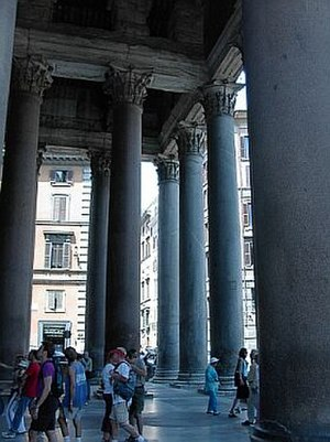 Portico - Under the portico of the Pantheon in Rome