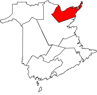Acadie—Bathurst - Acadie—Bathurst in relation to other New Brunswick ridings (2005 boundaries)