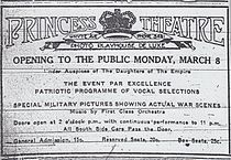 The first ad ever placed by the Princess on March 8, 1915