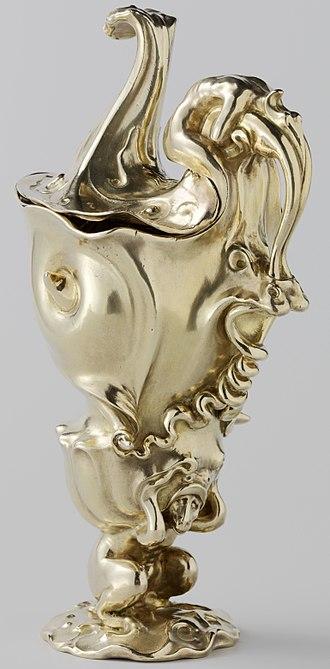 Adam van Vianen - Memorial gilded ewer of 1614