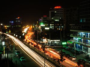 Addis Abeba durante a noite