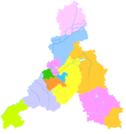 Location in the former city of Jinan(pink)