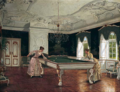 Adolf Heinrich-Hansen - women playing billiards.png