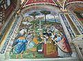 Aeneas Piccolomini presenta Elionor de Portugal a Frederic III, Pinturicchino, Biblioteca Piccolomini (catedral de Siena).JPG
