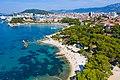 Aerial view of Ovcice Beach in Split, Croatia (48608734797).jpg