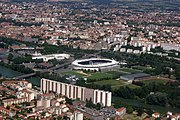 Aerial view of Stadium in Toulouse