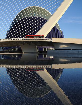 L'Àgora - Assut de l'Or Bridge and the L'Àgora are two parts of Valencia's City of Arts and Sciences complex