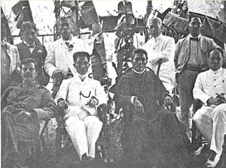 Philippine Independent Church - President Emilio Aguinaldo and Obispo Máximo Gregorio Aglipay, with some Cabinet officials of the First Philippine Republic, December 1904.