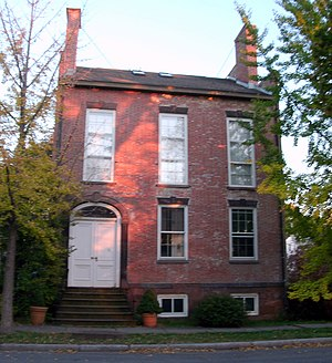 National Register of Historic Places listings in Rensselaer County, New York - Image: Aiken House Rensselaer NY Oct 10