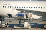 Air France F-GKXM being loaded.JPG
