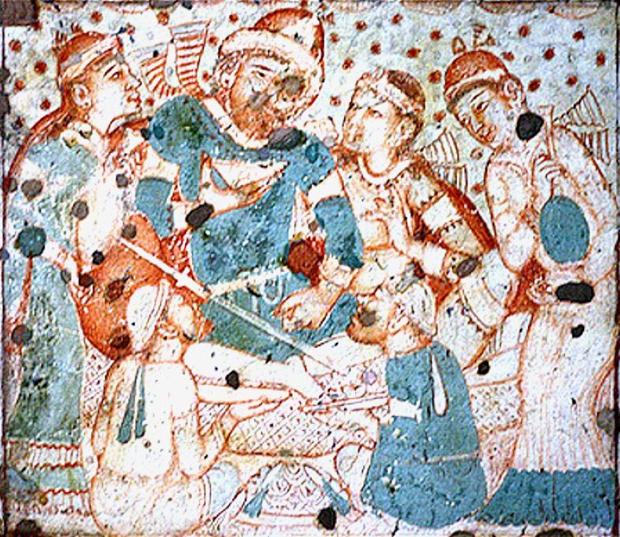 Ajanta Cave 1 Persian Bacchanale No1